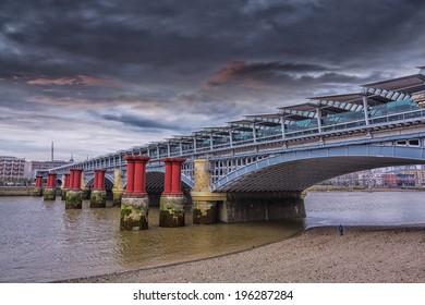Southwark Bridge in London.