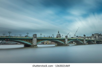 Southwark Bridge over the River Thames, a road traffic bridge linking Southwark with the City of London