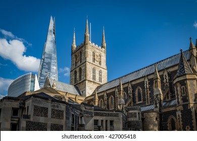 Southwark Cathedral or The Cathedral and Collegiate Church of St Saviour and St Mary Overie, Southwark, London. It is the mother church of the Anglican Diocese of Southwark.