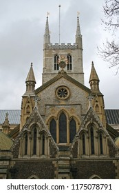 Southwark Cathedral Tower in London UK