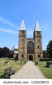 Southwell, Nottinghamshire, UK, 07/11/2018 - A view of Southwell Minster in Nottinghamshire UK