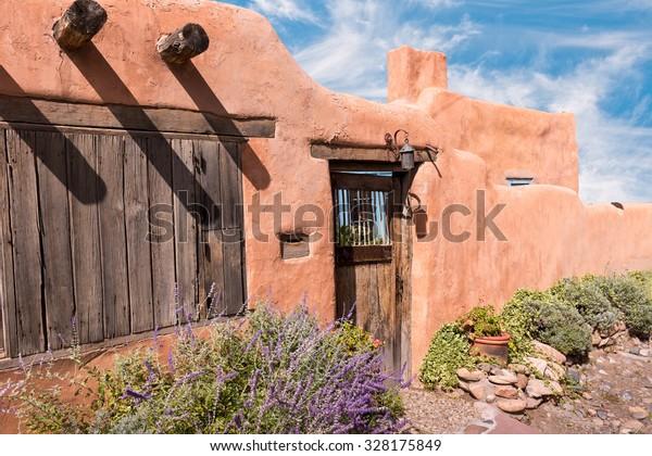Southwest Adobe Home and Sky