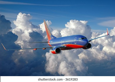 Southwest plane in flight
