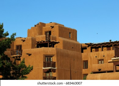 Southwestern adobe building