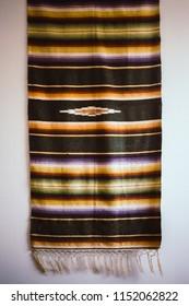 Southwestern Blanket on Wall