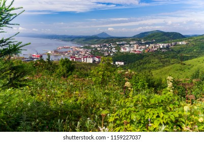 The South-Western coast of Sakhalin island. City by the sea.Kholmsk.