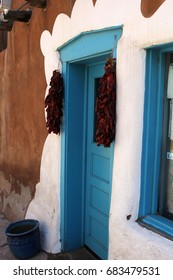 Southwestern door with chilies