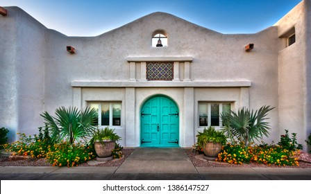 Southwestern Door - A vintage door in Phoenix, Arizona.