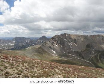 Southwestern perspective from the top of Mount Belford in Colorado.