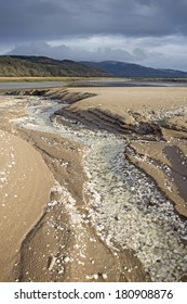 Southwick Water estuary, Mersehead Sands, RSPB Mersehead Nature Reserve, Southwick, Dumfries and Galloway, Scotland, UK.