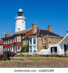 Southwold, Suffolk, UK, June 2018: Lighthouse on the Suffolk coast.