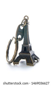 souvenir Eiffel Tower isolated on a white background