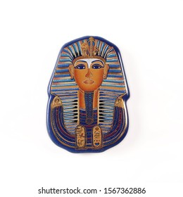 Souvenir (magnet) from Egypt isolated on white background. Design element with clipping path
