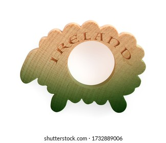 Souvenir (magnet) from Ireland isolated on white background. Design element with clipping path