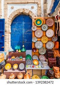 Souvenir market in old Medina of Essaouira, Morocco