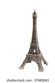 A souvenir miniature Eiffel Tower in cast metal