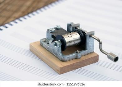 Souvenir music box, music-sheet