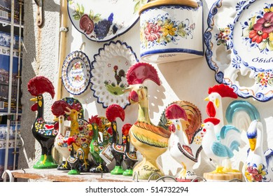 The souvenir of Obidos, Portugal.