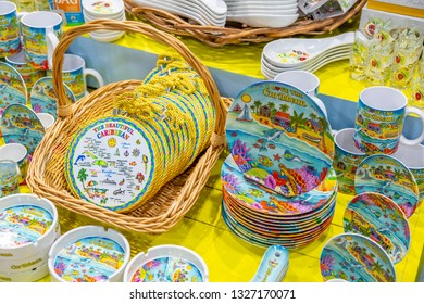 Souvenir pottery in St George's, Grenada, Windward Islands, West Indies, Caribbean, Central America 2 February 2019