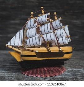 souvenir ship on the table