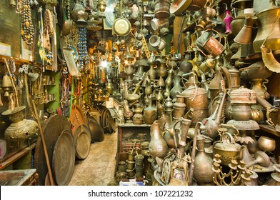 a souvenir shop at the old city of Jerusalem