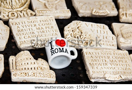 Souvenirs Love Famous Phrases Rome Italy Stock Photo Edit Now Inspiration Famous Phrases About Life
