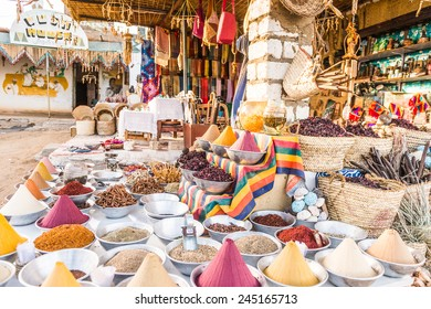 Souvenirs in a Nubian village in Egypt
