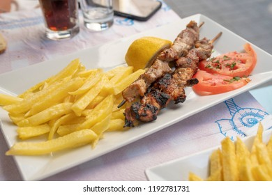 Souvlaki can make from lamb, chicken, veal or pork. Original taste is pork made. This food is same with turkish shish kebab. This meal cook on barbecue or grill.