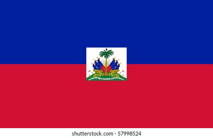 Sovereign state flag of country of Haiti n in official colors.