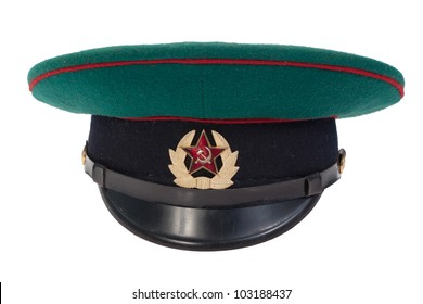 056f2160e63 soviet army border guard soldiers cap isolated on white background