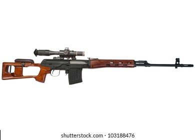 soviet army sniper rifle SVD by Dragunov with optic sight