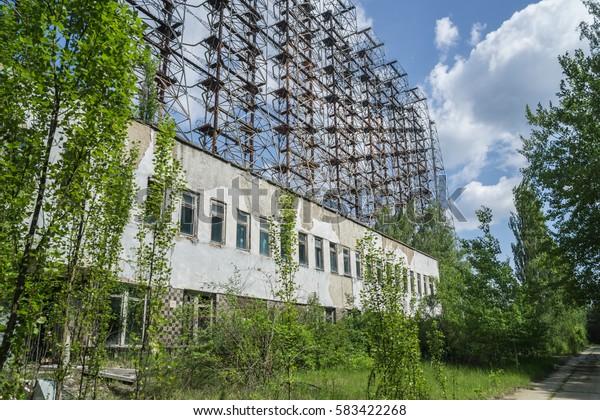 Soviet Duga over the horizon radar system in Chernobyl Exclusion Zone, Ukraine