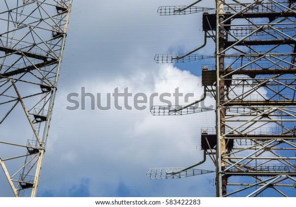 Soviet Duga radar system in Chernobyl Nuclear Power Plant Zone of Alienation, Ukraine
