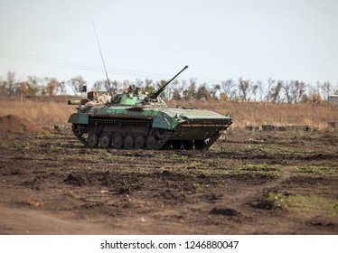 Soviet infantry car in the field. 