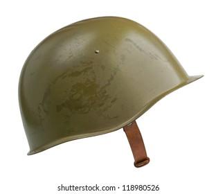 A Soviet military SSh-39 helmet.