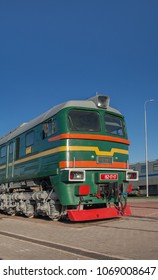Soviet  powerful diesel locomotive front view