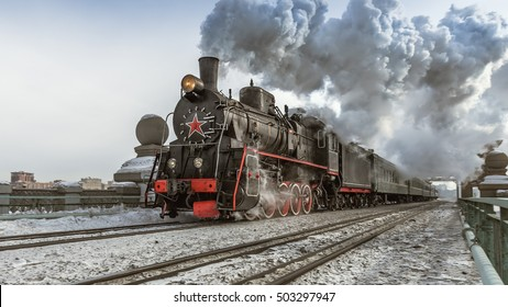 Soviet steam locomotive
