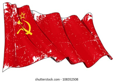 Soviet Union flag Scratched