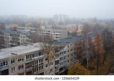 Sovietic old blocks in Alytus city, Lithuania