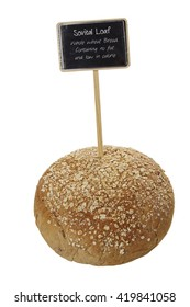 Sovital Loaf of bread - German styled bread with mini chalkboard stick