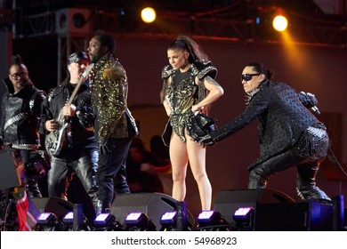 SOWETO - JUNE 10: The Black Eyed Peas performs at Orlando Stadium for the FIFA World Cup Kick Off Celebration Concert on June 10, 2010 in Soweto.