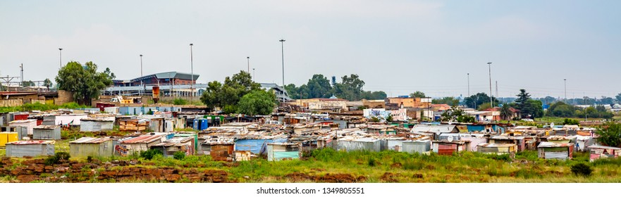 SOWETO, SOUTH AFRICA - 03.06.2019 :   Soweto Township in Johannesburg ,South Africa. SOWETO is the most populous black urban residential area in South Africa.