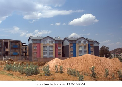 SOWETO, SOUTH AFRICA - CIRCA OCTOBER 2018: New housing built in the township near Johannesburg