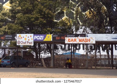 SOWETO, SOUTH AFRICA - CIRCA OCTOBER 2018: Parking at Soweto Towers near Johannesburg