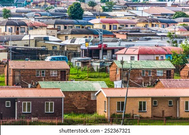 Soweto - South Africa, Jan 30: South West Township pictured on January 30th, 2015 in Johannesburg ,South Africa.  SOWETO is the most populous urban area in the country, with a population of a million.