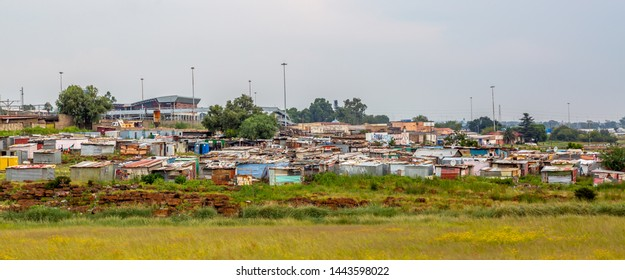 Soweto Township in Johannesburg ,South Africa. SOWETO is the most populous black urban residential area in South Africa.