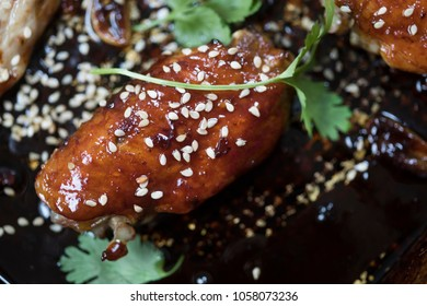 Soy baked chicken wings