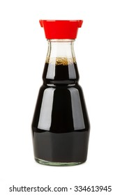 Soy sauce bottle isolated on white background