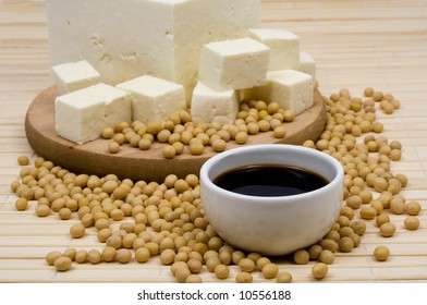 Soy sauce and tofu cheese