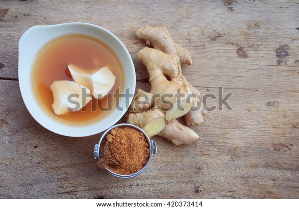 soybean curd and ginger